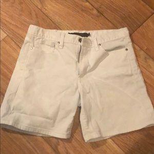 Calvin Klein white jean shorts